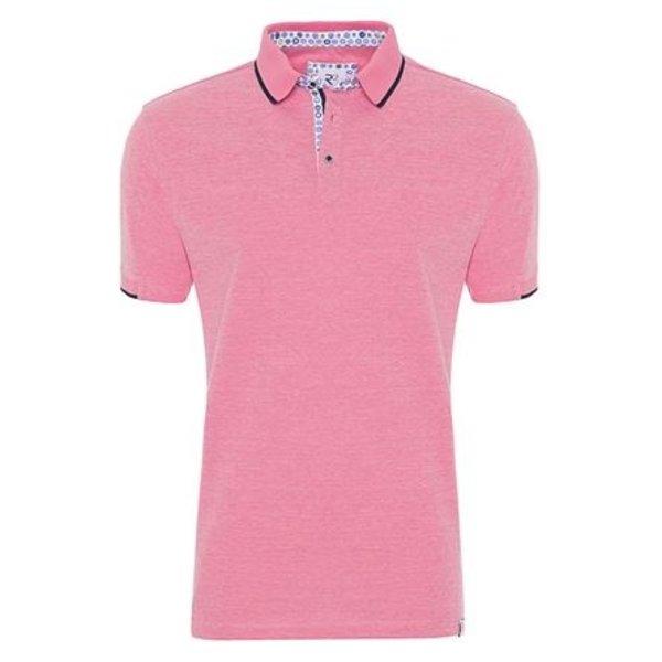 Neon pink plain polo.