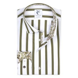 Green striped cotton shirt.