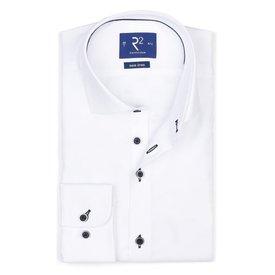 Wit strijkvrij katoenen overhemd ML7.