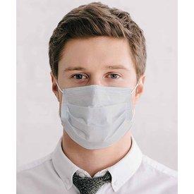 White cotton mouth mask