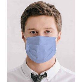 Light blue cotton mouth mask