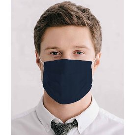 Navy blue cotton mouth mask