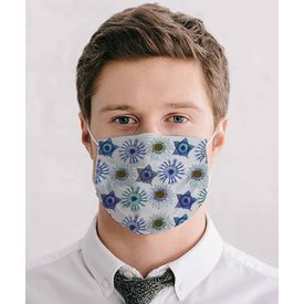 White graphic print mouth mask