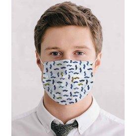 White car print mouth mask