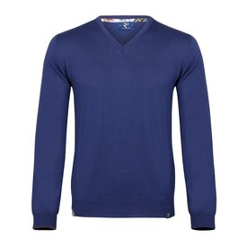 Blue extra fine wool  pullover.