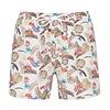 Swim short met tropische print.