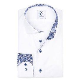 XL Fit. Wit effen katoenen overhemd.