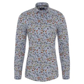 Flanellen shirt met bloemen.