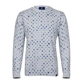 Anthracite circles print cotton pullover.