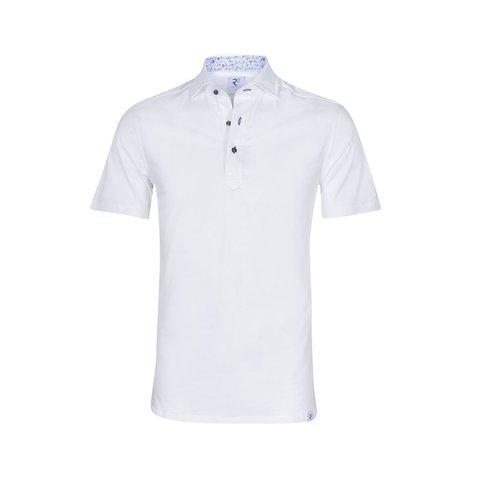 Witte single jersey shirtpolo.