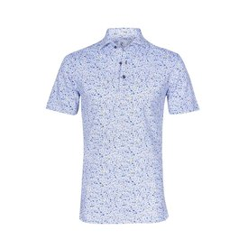 White bike print single jersey cotton shirtpolo.