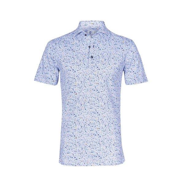 Witte fietsenprint single jersey shirtpolo.
