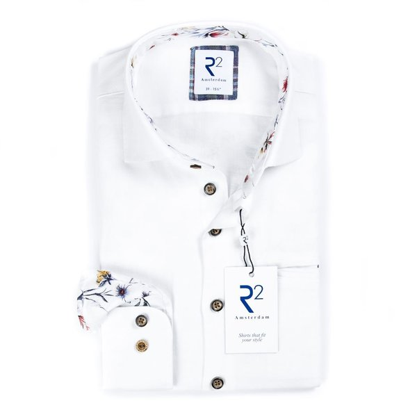 White linen/cotton shirt.