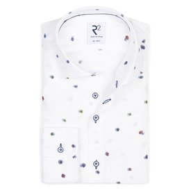 White flowerprint viscose shirt.