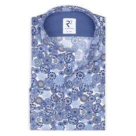 White graphic print cotton shirt.