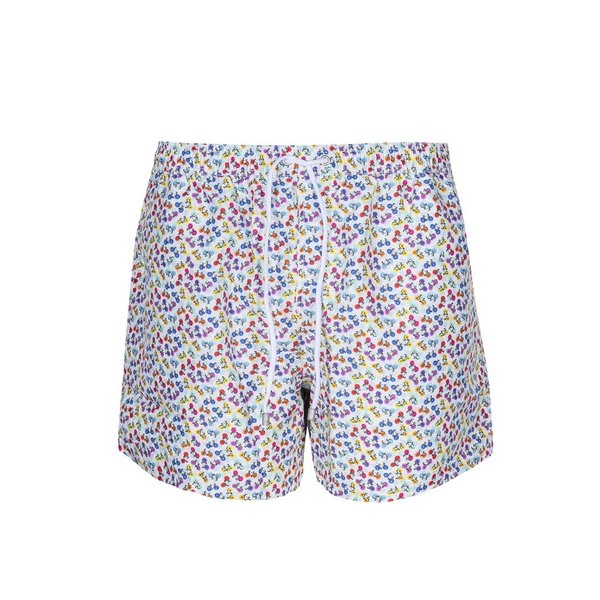 Swim short met fietsenprint.