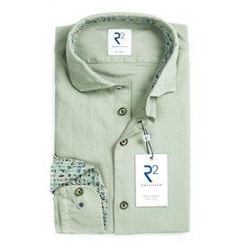 Light green Jersey cotton garment dyed shirt.