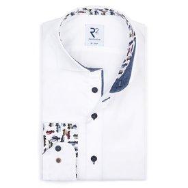 Extra Lange Mouwen. Wit katoenen overhemd.
