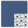 Extra Lange Mouwen. Blauw Herringbone katoenen overhemd.