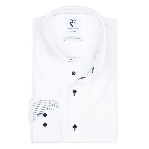 White 4-way stretch shirt.