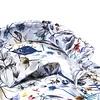 Wit boemenprint katoenen overhemd.