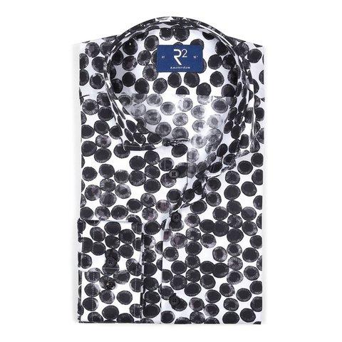 White flowerprint cotton shirt.