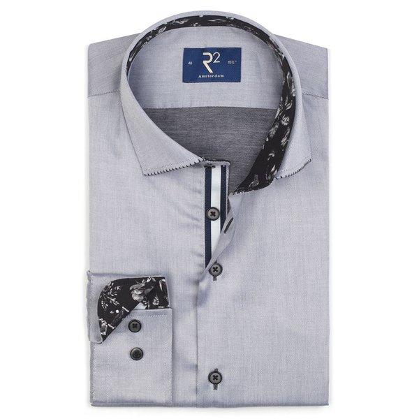 Grey cotton shirt.