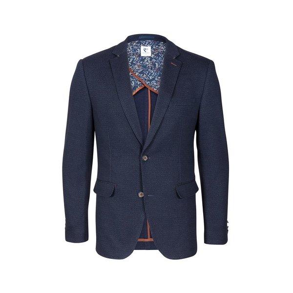 Dark blue Jersey jacket.