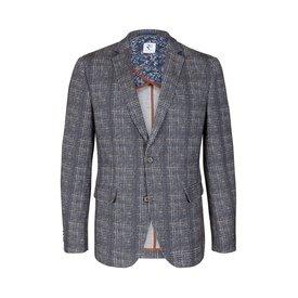 Grey checkered Jersey jacket.