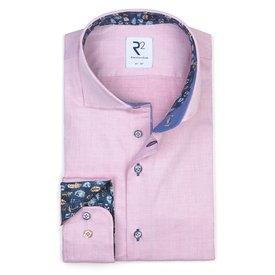 Light pink Herringbone cotton shirt.