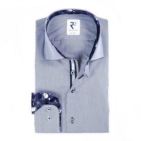White blue striped cotton shirt.