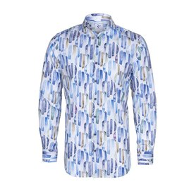White with graphical print cotton shirt.