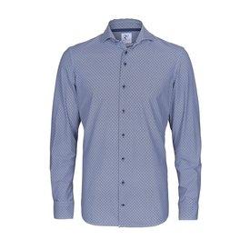 Wit grafische print Jersey overhemd.