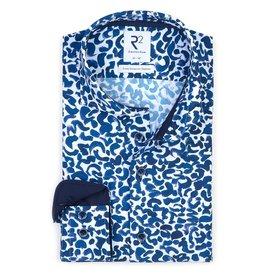 Wit met grafische print Jersey overhemd.