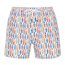 R2 Swim short with surfboards.