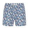 Swim short with toucans.