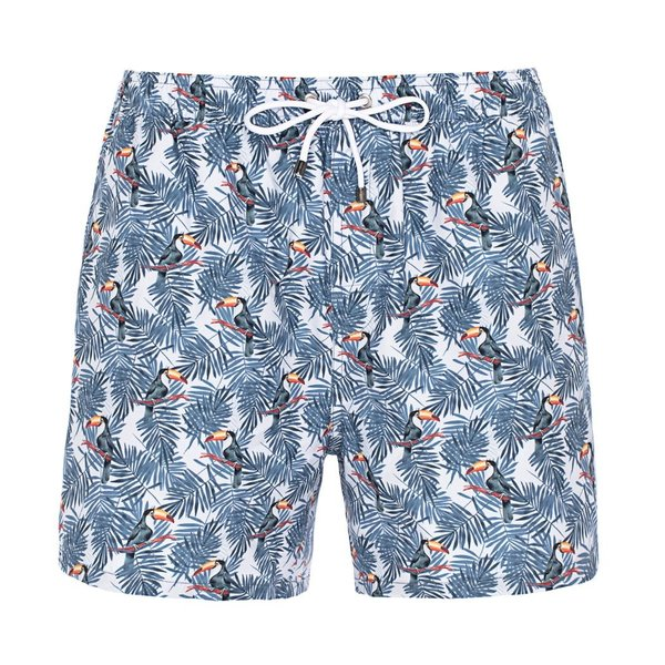 R2 Swim short with toucans.
