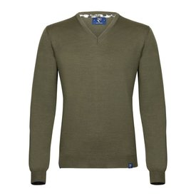 Donker groen extra fine wool pullover.