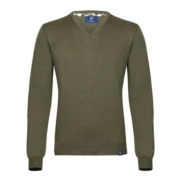 Donker groen extra fine wool pullover.