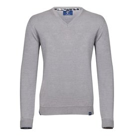 Grau Pullover aus extrafeiner Wolle.