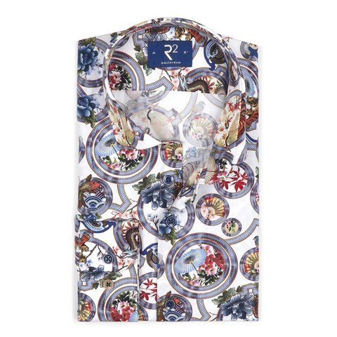 Multicoloured Japanese print cotton shirt.