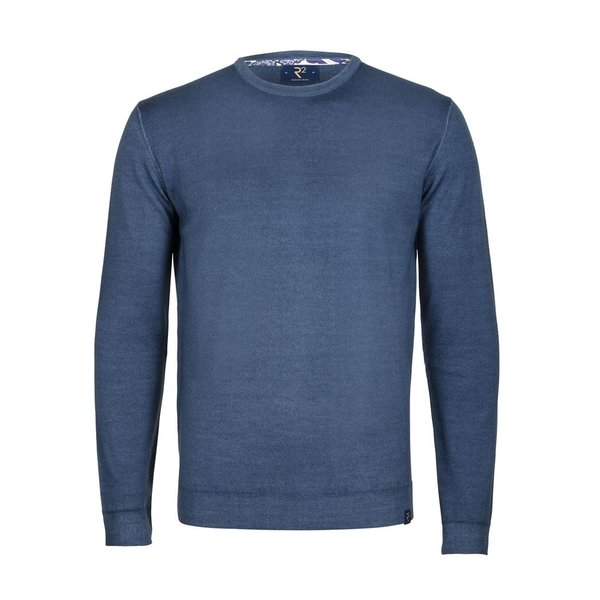 Blauw extra fine wool pullover.
