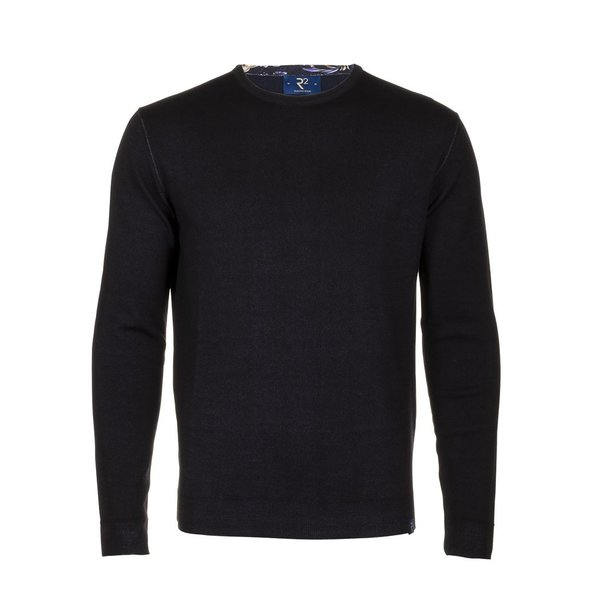 Navy blue extra fine wool  pullover.