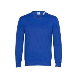 Cobalt blue extra fine wool sweater.