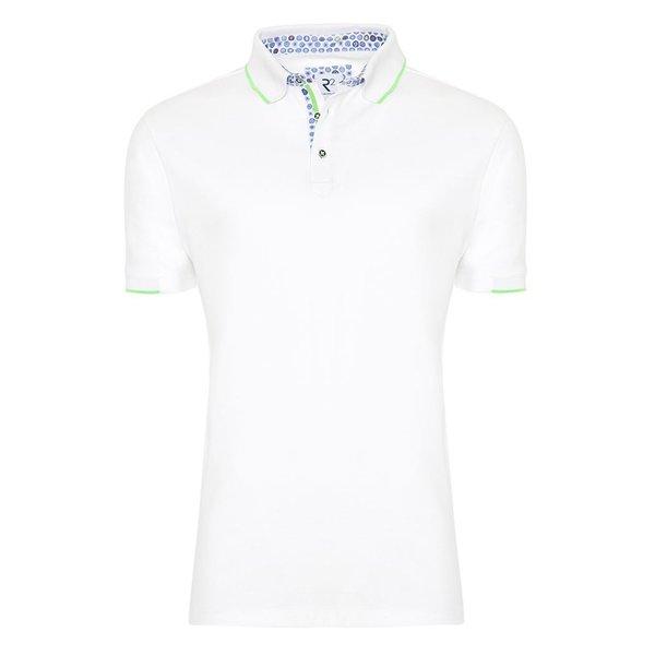 R2 White polo shirt.