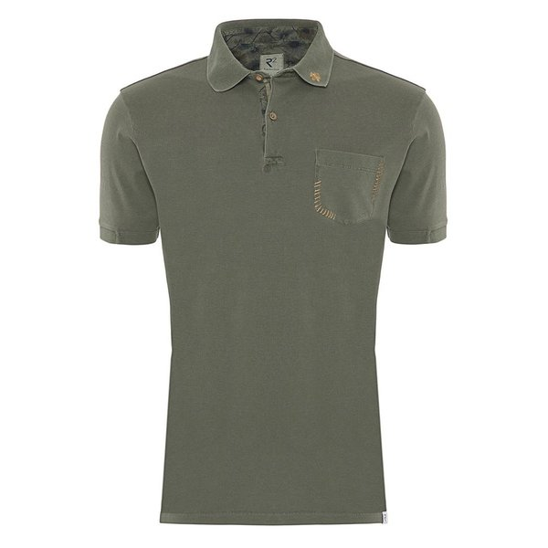 R2 Army green plain polo.