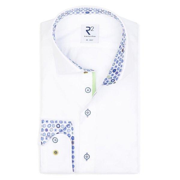White Oxford cotton shirt.
