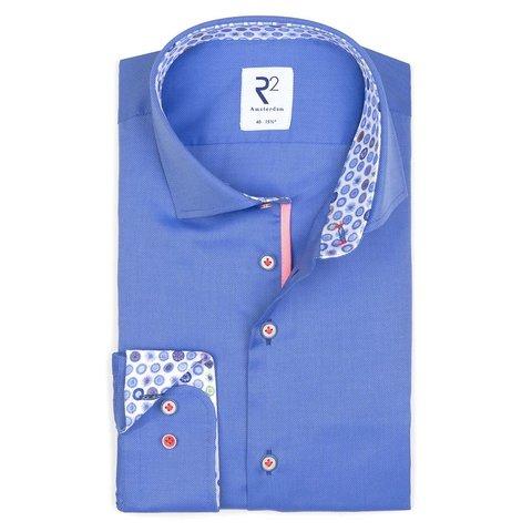 Blaues Oxford-Baumwollhemd.