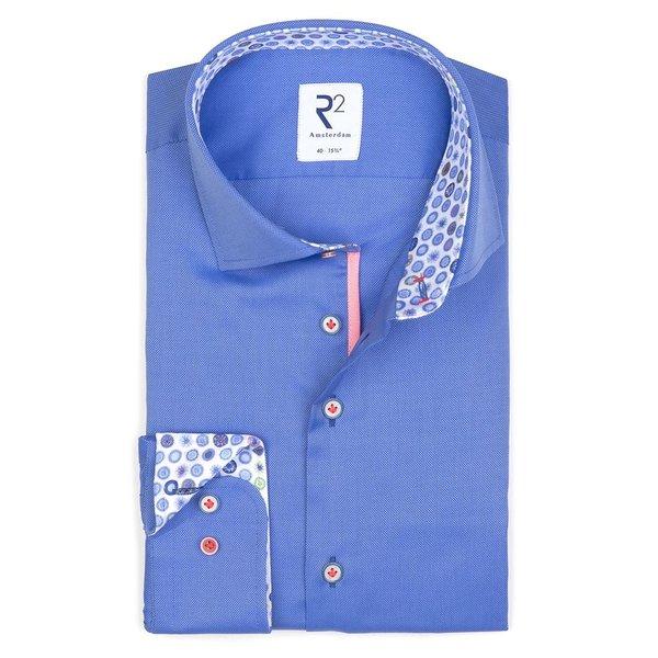 R2 Blue oxford cotton shirt.