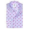 Light blue dots print cotton shirt.